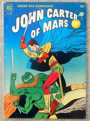 Dell Four Color #375 - JOHN CARTER OF MARS - 1952 Golden Age Sci-Fi Comic • 33$