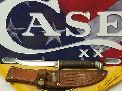 $ CDN80.29 • Buy Vintage Case Xx Usa M3f Ssp Razor Edge Tested Hunting Knife W/ Leather Sheath