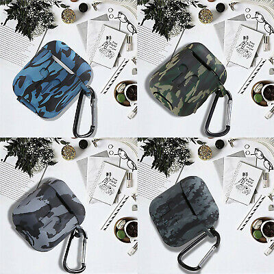 $ CDN4.21 • Buy AirPods Camouflage Case Earphones Silicone Protector Cover Skin For AirPod