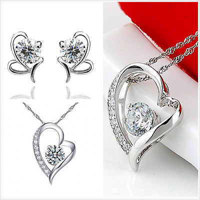UK Boxed Sterling Silver Jewellery Set Made With Swarovski Crystal • 7.50£
