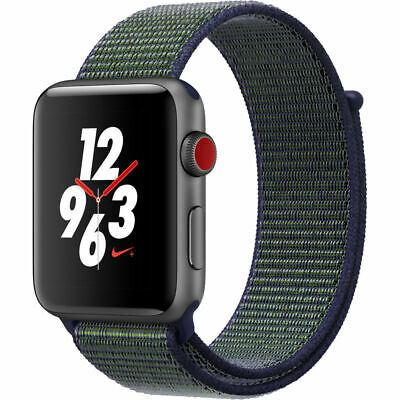 $ CDN429.10 • Buy Apple Watch Series 3 42mm Nike+ Cellular Space Gray Case Midnight Fog MQLH2LL/A