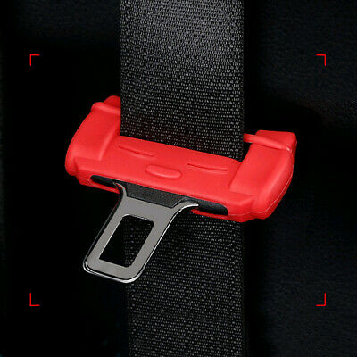 $ CDN2.98 • Buy 1 X Car Seat Belt Buckle Silicone Cover Clip Anti-Scratch Cover Black Or Red