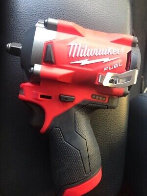 New Milwaukee M12 FUEL Stubby 3/8  Impact Wrench (Tool-Only) 2554-20 Without Box • 152$