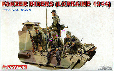Dragon 6156 1/35 WWII German Panzer Riders (Lorraine 1944) (4 Figures) 2019 • 15.59£