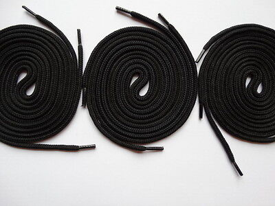 £4.49 • Buy 3 Pairs Laces Strong Round 100cm Black - For Canvas Trainer Skater Adidas
