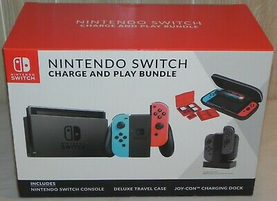 Nintendo Switch Console Carrying Case Controller Charging Dock Bundle NEW • 339.99$
