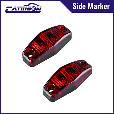 2x Red LED Light 2.5  Universal Surface Clearance RV Trailer Truck Side Marker • 6.88$