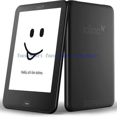 $81.86 • Buy Tolino Vision 2 Black E-book Reader 6 Inch E Ink Backlight 1024x758 Touch Screen