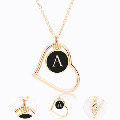 £2.99 • Buy Personalised Initial Letter Alphabet A - Z Pendant Necklace GIFT Xmas HEART