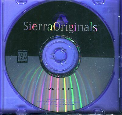 AU8.95 • Buy Detroit - Sierra Originals - PC Game - Very Good - Aust Seller - Free Postage