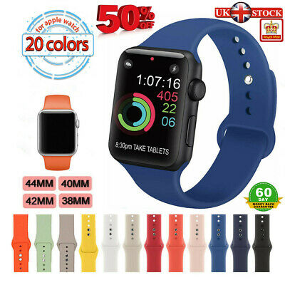 Silicone Sport Band Strap For Apple Watch IWatch Series 4 3 2 1 38/40mm 42/44mm • 3.36£