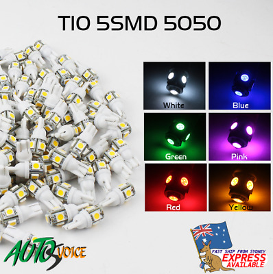 AU16.99 • Buy T10 12V LED Auto Interior Roof Dash Door No.Plate Footwell Bulbs Multiple Colors