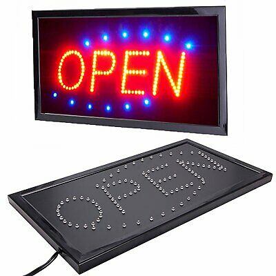 £13.90 • Buy Bright LED Neon OPEN Shop Sign Light Display Sign Window Hanging With Chain UK