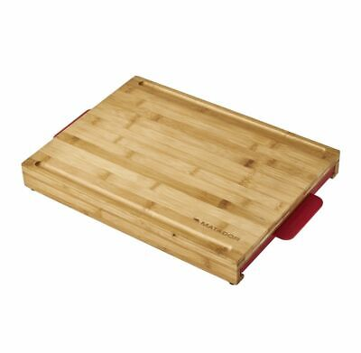 AU60 • Buy Matador Bamboo BBQ Chopping Board With Slide Out Trays