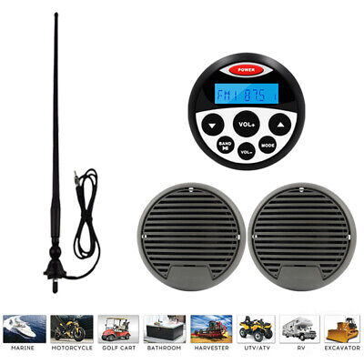 $83.64 • Buy Marine Stereo And Speakers Waterproof Mp3 Player Stereo System Boat Car FM Radio