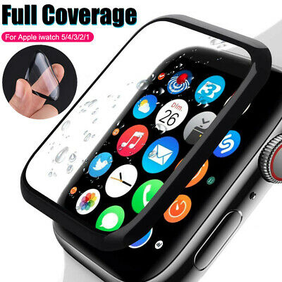 $ CDN2.98 • Buy 6D FULL COVER Soft Glass Screen Protector For Apple Watch IWatch 5 4 3 2 42/44mm