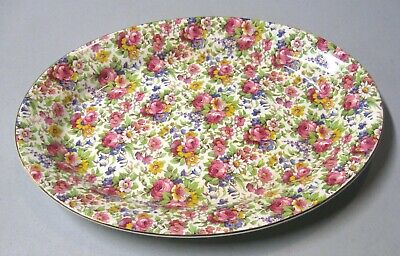 $ CDN53.44 • Buy Royal Summertime Chintz 12 3/4  Oval Serving Platter