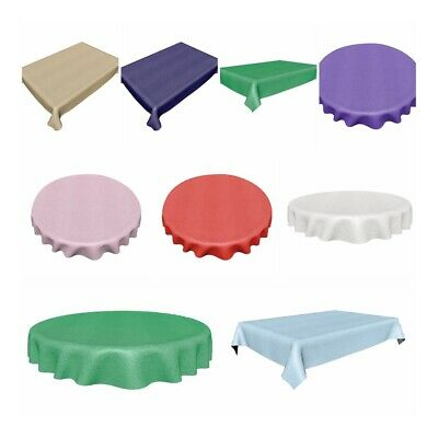Rectangle & Round Plastic Table Cloth Covers Cover Christmas Party • 3.25£