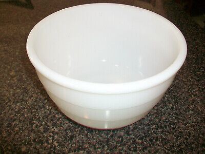 $5.99 • Buy Vintage White Milkglass GE Mixing Bowl 7 1/4  Ribbed Outside