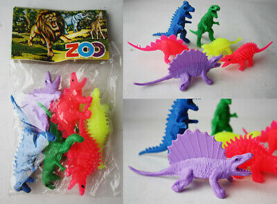 $14.99 • Buy Vintage 80's Dinosaurs Neon Plastic Animals Figures Biokonto Greece Greek New !