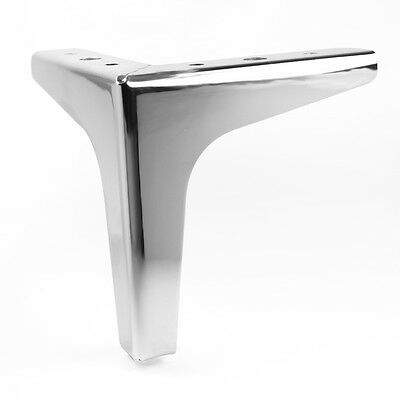 Sofa Legs Steel 4 X Chrome Plinth Legs Feet For Sofas - FREE DELIVERY! • 23.96£