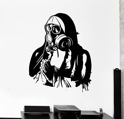 $20.99 • Buy Vinyl Wall Decal Respirator Gas Mask Military Art Soldier Prays Stickers (g2263)