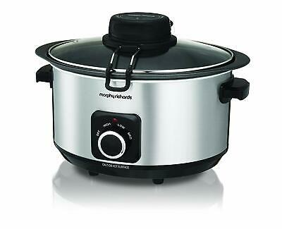 Morphy Richards 461010 Sear Stew & Stir Slow Cooker 6.5L Integrated Auto Stirrer • 44.99£