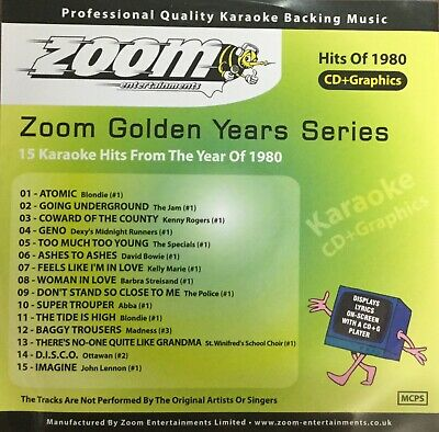 £6.99 • Buy Zoom Golden Years CDG Disc- Karaoke Hits From The Year 1980