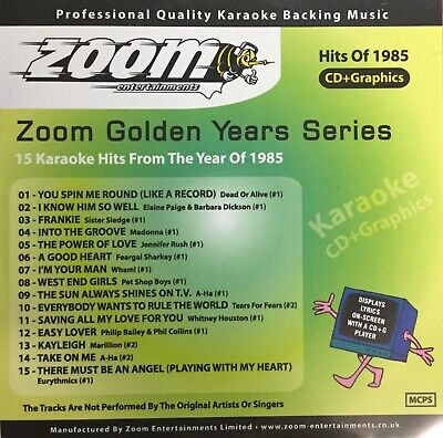£6.99 • Buy Zoom Golden Years CDG Disc- Karaoke Hits From The Year 1985