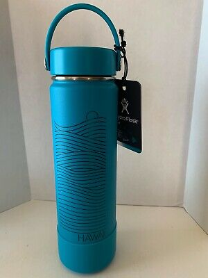 $80 • Buy New Hydro Flask Limited Edition Hawaii Exclusive 2019 Blue 24 Oz