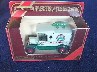£7.95 • Buy 1912 Ford Model T Van Matchbox Yesteryear Y3 / Y12 - Various Available BOXED