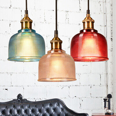 £13.69 • Buy Vintage Industrial Retro Loft Style Glass Ceiling Wall Lamp Shade Pendant Light