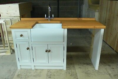 Pine Freestanding Small Belfast Butler Sink Unit Appliance Gap In Any Colour. • 1,200£