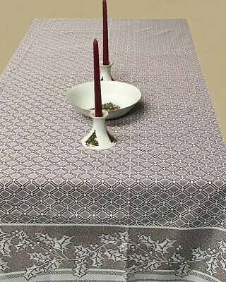 $65 • Buy White Lace Tablecloth 70  X 90  Rectangle Holly Berry Dining Room Christmas