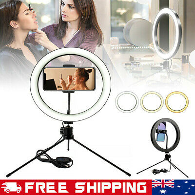 AU24.69 • Buy 6-10  Phone Selfie Ring Light With Stand Dimmable For Makeup Video Shooting Live