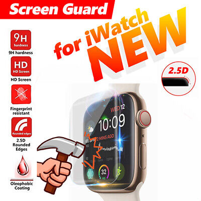 $ CDN4.50 • Buy Fit Apple Watch Series 5 4 3D Edge Tempered Glass Full Screen Protector 40/44mm