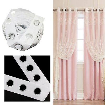 1M White Curtain Tape With 8 Rings Door Accessories Curtain Blinds For Windows • 2.95£
