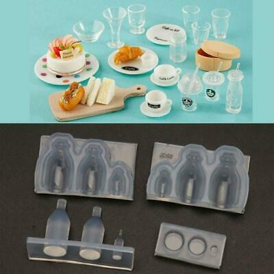 $5.95 • Buy Mini Glass Bottle Milk Drink Bottle Resin Casting Mold Food Play Silicone Mold