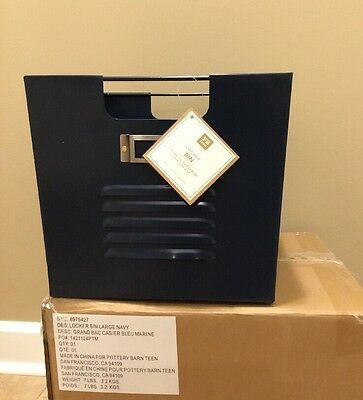 $27.99 • Buy NEW Pottery Barn Teen Large Locker Bin NAVY