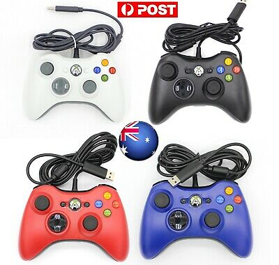 AU25.99 • Buy AUS XBOX 360 Wired Game Controller Gamepad Fr Microsoft XBOX 360 Console Windows