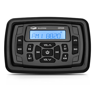 $89.98 • Buy Marine Stereo Bluetooth Radio Waterproof AM FM Boat System Head Unit ATV UTV Car