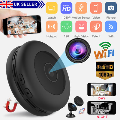 View Details Mini Spy IP Camera Wireless WiFi HD 1080P Hidden Network Monitor Security Cam UK • 33.59£
