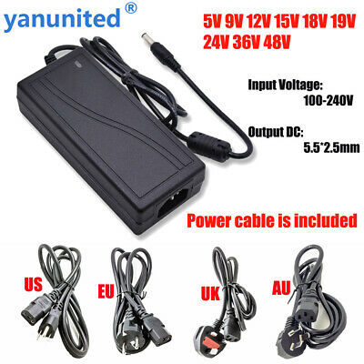 $ CDN29.55 • Buy 2A 3A 5A 6A 8A 10A Power Supply Adapter Transformer 110V-240V To DC 12V 15V 24V