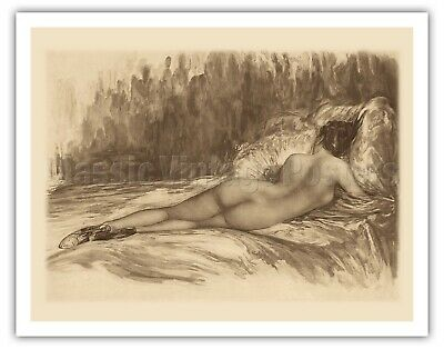 £141.58 • Buy Charcoal Nude Figure Drawing - 1930s From An Etching And Drypoint Art Print