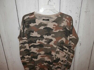$27.99 • Buy Millau Women's Medium Military Camo Style Long Stretch Pull Over Sweater 3084