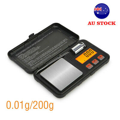 AU30.92 • Buy 0.01g/200g Mini Digital Pocket LCD Scales For Weighing Gold Jewelery Diamond AU