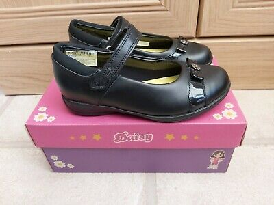 Lovely Girls Brand New Clarks Black Leather School Shoes Size 12.5G Daisy Locket • 24.99£