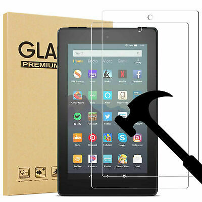 £4.89 • Buy 2PC Tempered Glass Film Screen Protector For Amazon Kindle Fire HD 10 2015/2017