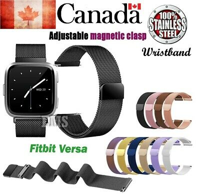 $ CDN11.99 • Buy NEW Replacement Stainless Steel Metal Strap Band For Fitbit Versa/Lite Sports CA