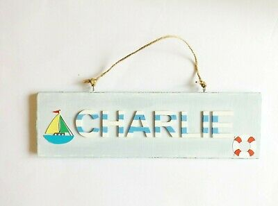 Nautical Sailing Bedroom Door Name Plaque Home Decor Personalised Gift For Kids • 11.95£